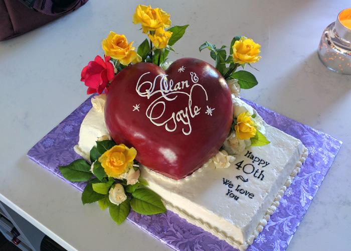 40-year anniversary cake