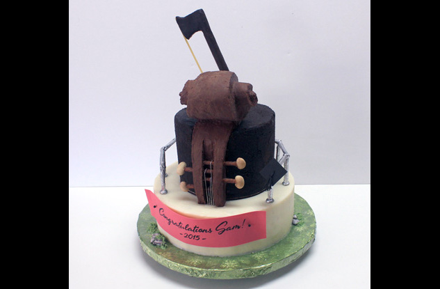 Graduation Violin cake full copy