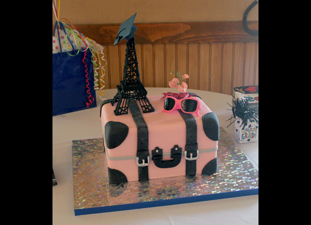 Paris Graduation cake