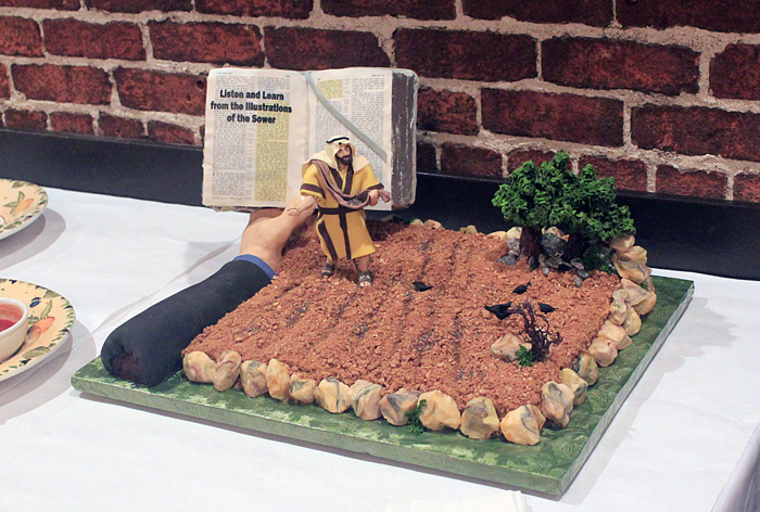 Pioneer Party Bible Cake Decoration