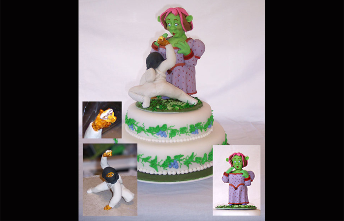 Ninja and Fiona Wedding Cake