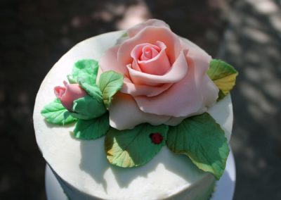 White Chocolate Modeling Roses topper