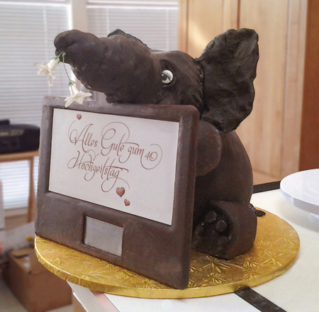 Chocolate Gluten free elephant cake