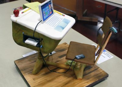 Modernized school desk