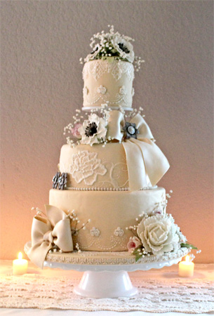 Sharpened wedding cake