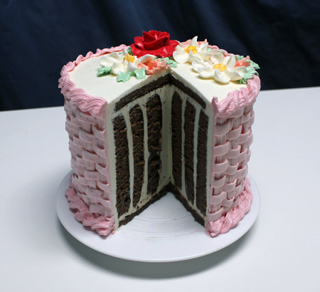 Test Cake open