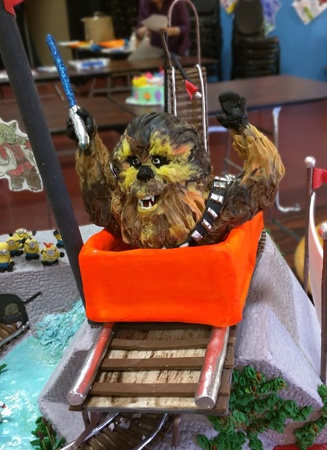 2016 County Fair cake close up of Chewie.
